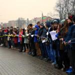 Золотоноша відзначила День Соборності маршем, мітингом та співами [ФОТО, ВІДЕО]