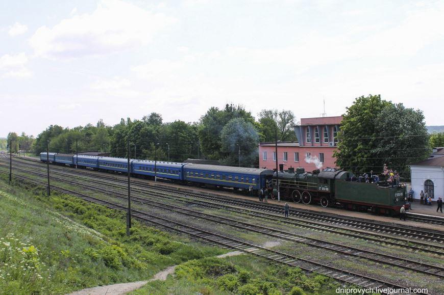 Ретро потяг Золотоноша 07