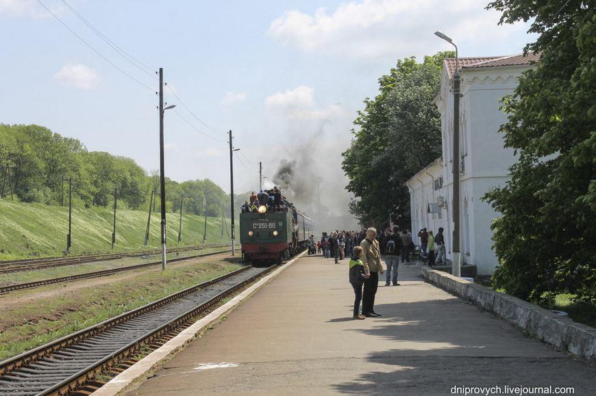 Ретро потяг Золотоноша 08
