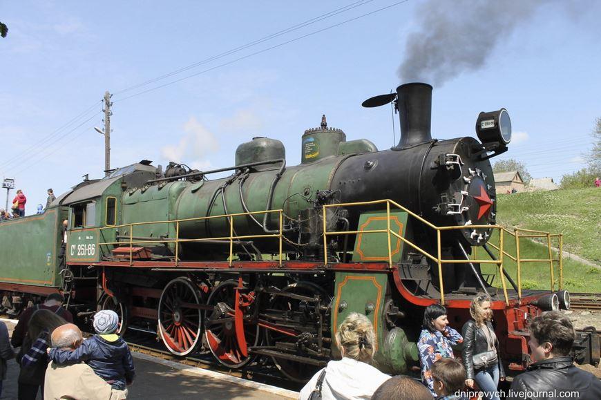 Ретро потяг Золотоноша 09