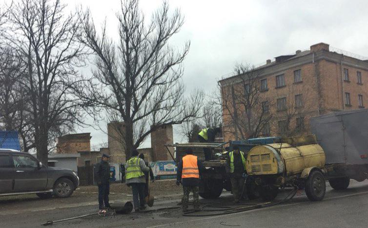 Експеримент на вулиці Шевченка, що здивував громадськість. Фото: vk.com/zolotonosha1