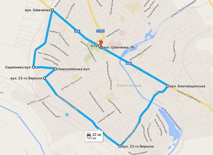 Велопробіг маршрут