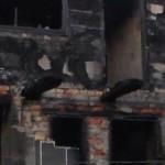 Вночі палала двоповерхова споруда на Новій Бахівській [ФОТО, ВІДЕО]
