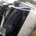 На черкаській трасі мікроавтобус зіткнувся з вантажівкою [ФОТО]