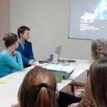 Столична режисерка розповіла молодим золотонісцям про особливості створення документального кіно