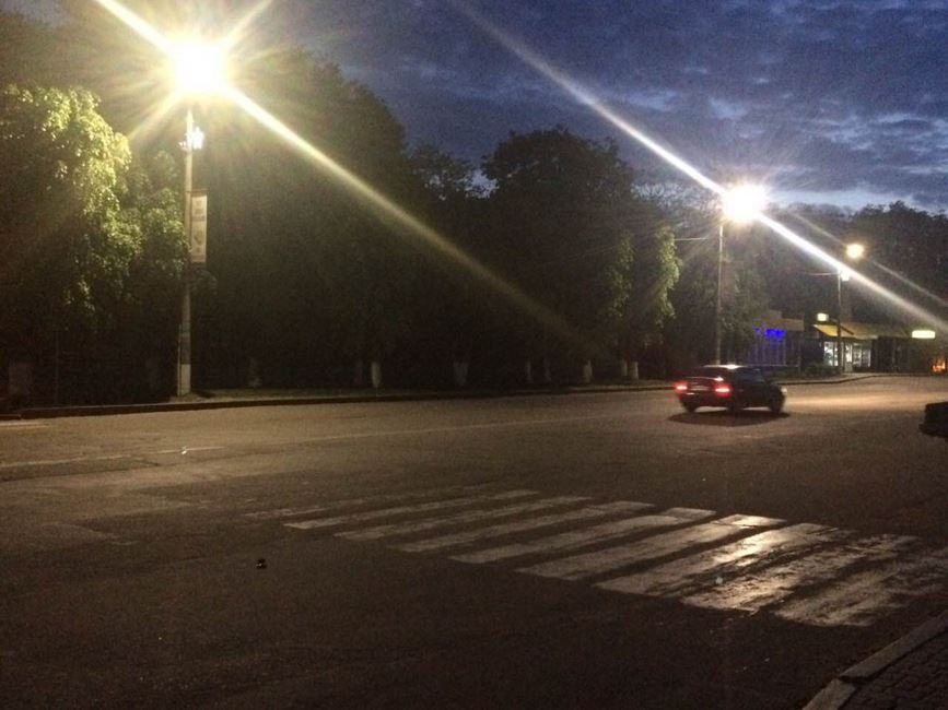 Золотоноша освітлення вулиця Шевченка